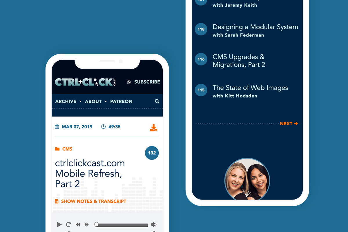 Screenshot of ctrlclickcast.com homepage